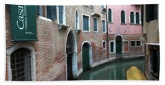Venetian Streets -canals. Carlo Galdoni Museum Beach Towel