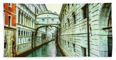 Venice Bridge Of Sighs Beach Sheet