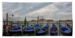 Beach Towel featuring the photograph Venice Gondola's Grand Canal by Nathan Bush