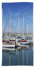 Ventura Harbor  By Linda Woods Beach Towel