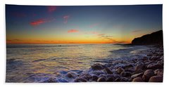 Beach Towel featuring the photograph Ventura Sunset by John Rodrigues