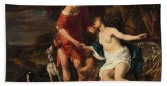 Venus And Adonis, 1658 Beach Towel