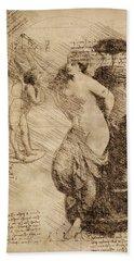 Venus Weigh Cupid Beach Towel