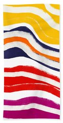 Vibrant Waves 2- Art By Linda Woods Beach Towel