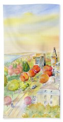 View From Clock Tower - Cornell University Beach Towel