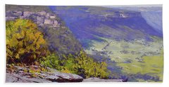 View From Hassons Wall Lithgow Beach Towel