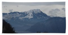 View From My Art Studio - Stanserhorn - March 2018 Beach Towel