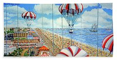 View From Parachute Jump Towel Version Beach Towel