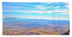Beach Towel featuring the photograph View From Squaw Butte, Id by Dart and Suze Humeston