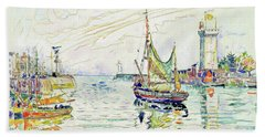 View Of Les Sables D'olonne - Digital Remastered Edition Beach Towel