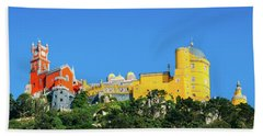 View Of Pena National Palace, Sintra, Portugal, Europe Beach Towel