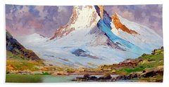 View Of The Matterhorn - Digital Remastered Edition Beach Towel
