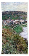 View Of Vetheuil - Digital Remastered Edition Beach Towel