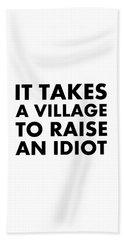 Village Idiot Bk Beach Towel