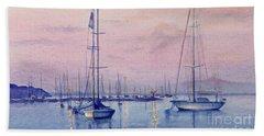 Vineyard Twilight Watercolor Beach Sheet