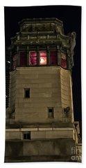 Vintage Chicago Bridge Tower At Night Beach Towel