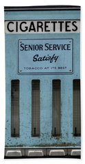 Senior Service Vintage Cigarette Vending Machine Beach Sheet