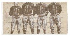 Vintage Football Heroes Beach Towel