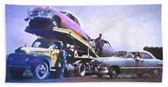 Vintage Ford Car Carrier Beach Sheet