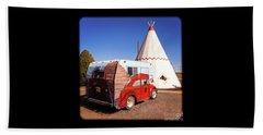 Vintage Volkswagon Beatle Camper  Beach Sheet