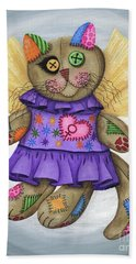 Voodoo Empress Fairy Cat Doll - Patchwork Cat Beach Towel
