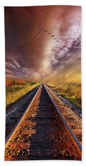Beach Towel featuring the photograph Walk The Line by Phil Koch