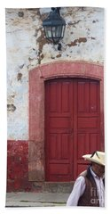 Beach Towel featuring the photograph Walking By In Patzcuaro by Rosanne Licciardi