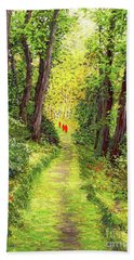 Walking Meditation Beach Towel