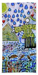 Beach Towel featuring the mixed media Walking On Water by Mimulux patricia No