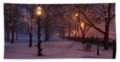 Walking The Path On Salem Ma Common Beach Towel