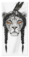 Warrior Lion Beach Towel