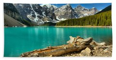 Washed Up At Moraine Lake Beach Towel