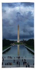 Beach Towel featuring the photograph Washington From Lincoln by Lora J Wilson