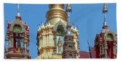 Wat Ban Kong Phra That Chedi Brahma And Buddha Images Dthlu0501 Beach Sheet