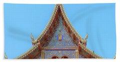 Beach Towel featuring the photograph Wat Kulek Phra Wihan Gable Dthlu0443 by Gerry Gantt