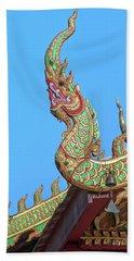 Wat Nong Khrop Phra Ubosot Naga Roof Finials Dthcm2665 Beach Towel