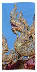 Wat Nong Tong Phra Wihan Naga Roof Finials Dthcm2648 Beach Towel