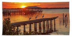 Watching The Sunset Beach Towel