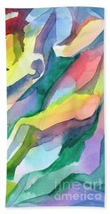 Watercolor Mosaic Beach Towel