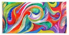 Watercolor's Swirl Beach Towel