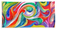 Watercolor's Swirl Beach Sheet