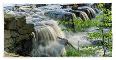 Waterfall At The Old Mill  Beach Towel