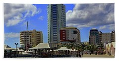 Beach Towel featuring the photograph Waterfront by Tony Murtagh