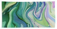 Watery Liquify Beach Towel