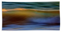 Beach Towel featuring the photograph Wave Abstact by John Rodrigues