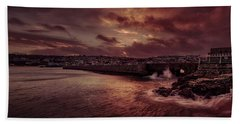 Wave At The Pier Beach Towel