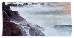 Beach Towel featuring the photograph Wave Falls by Whitney Goodey