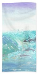 Wave Front Beach Towel