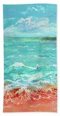 Waves At Sombrero Beach Beach Towel