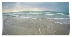 Beach Towel featuring the photograph Waves Crashing On Wrightsville Beach Before The Storm by Alex Grichenko